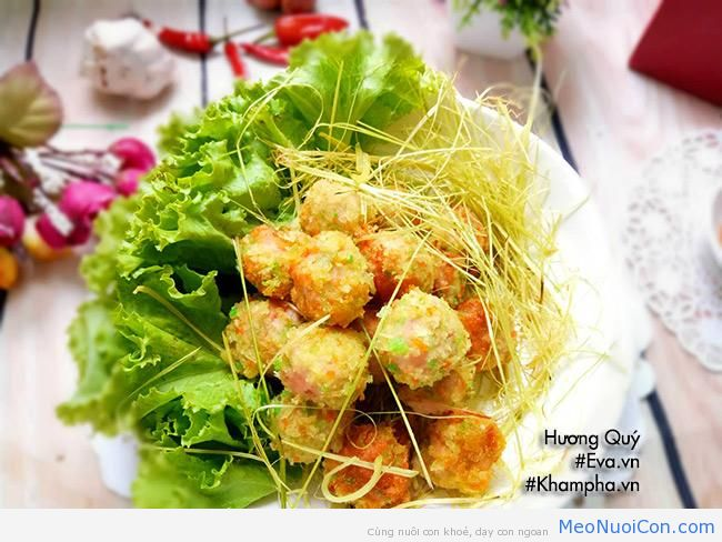 cha tom thit nhan pho mai chien gion rum be nao cung me - 10