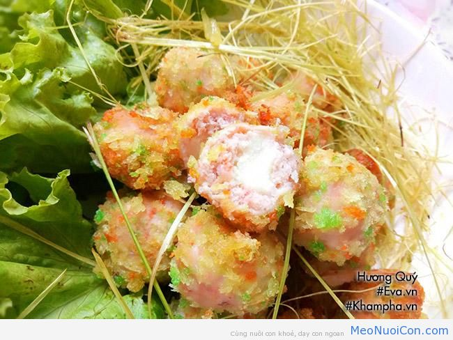 cha tom thit nhan pho mai chien gion rum be nao cung me - 11